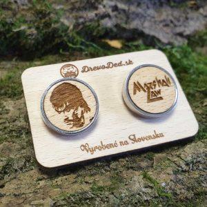 drevene manzetove gombiky personalizovane - tekken Marshall Law