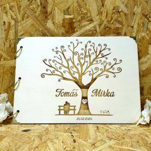 drevena svadobna kniha strom