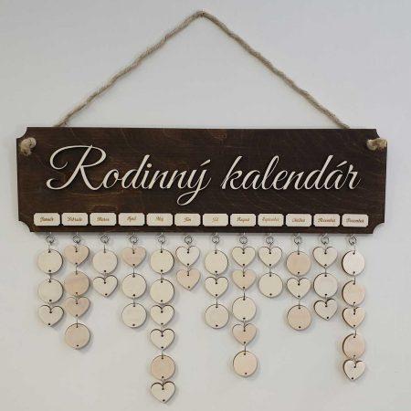 Dreveny rodinny kalendar