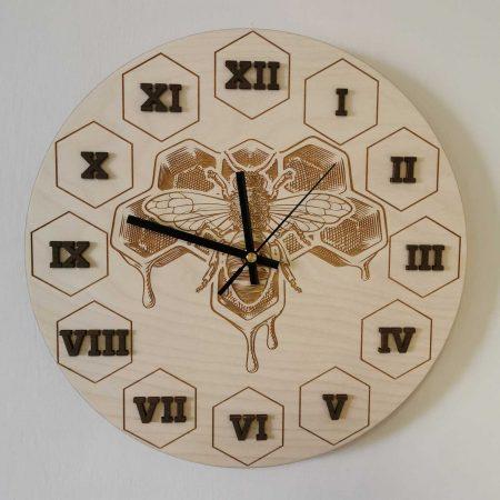 drevene-nastenne-hodiny-vcelarske